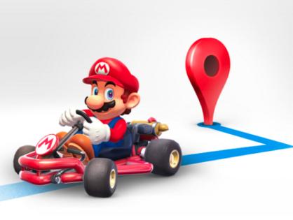 Mario Kart en Google Maps